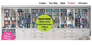 Wall Unit Bookshelves - bespoke custom wall units and furniture canalside interiors
