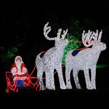 3d led motif lights outdoor santa claus and sleigh for outdoor