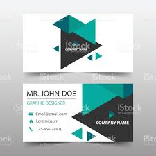 red hexagon corporate business card name card template horizontal
