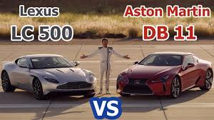lexus lc luxury coupe 2018 lexus lc 500 vs 2017 aston martin db11 track test amazing