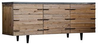edgewood rustic lodge old elm wood dark gray stone sideboard