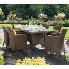 Madison Outdoor Furniture by 749 Hartman Madison 6 Seat Rectangular Set Sepia Henna Brown