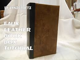 leather photo book faux leather book box tutorial
