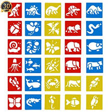 amazon com subang 30 pcs painting stencil plastic animal drawing