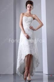 hem wedding dress dipped neckline a line high low hem wedding dresses at