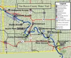 Map Of Des Moines Iowa Des Moines River Water Trail Van Buren County Iowa Tourism Map