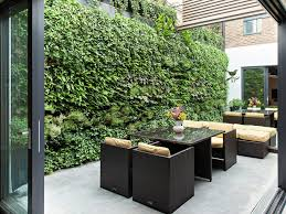 Small Walled Garden Ideas Alfresco Garden Ideas Patio Contemporary With Living Wall Outdoor