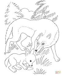 wolf mother wolf cub coloring free printable coloring pages