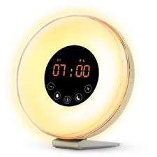 alarm clock that wakes you up during light sleep wake up light alarm clock ebay