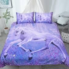 Unicorn Bed Set Purple Unicorn Bedding Set Well