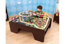 wooden train set table coffee table train set