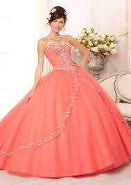 quinceanera dresses coral tulle skirt with sweep quinceanera dress style 88088 morilee