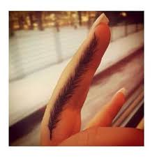 28 cute feather finger tattoos