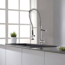 commercial style kitchen faucets kraus commercial style single handle kitchen faucet with pull