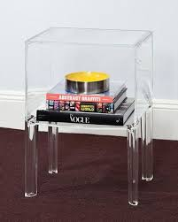 clear plastic bedside table 1 shelf clear acrylic lucite bedside table clear acrylic shelves