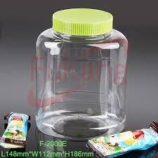 transparent 3 5 liter plastic large cookie jars with handle lid