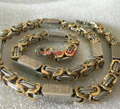 chain links bracelet images Heavyweight greek design jewelry 316l stainless steel square jpg