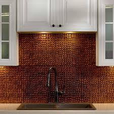 unique style with copper backsplash tiles u2014 great home decor