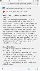 bmw employee lease program how does bmw verify eligibility for the corporate fleet program