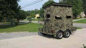 Building A Hunting Blind Danny Tackett Home Deer Blind Shooting House Plans A Step By