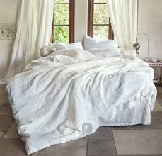100 linen duvet cover rough linen natural minimalist bedding