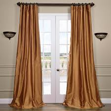 Brown Gold Curtains Copper Silk Curtains Half Price Drapes