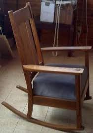 Mission Chairs For Sale Vintage Arts U0026 Crafts Antique Mission Design Oak Rocking Chair