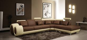 Cream Colored Sectional Sofa by Casa 4086 Modern Leather Sectional Sofa