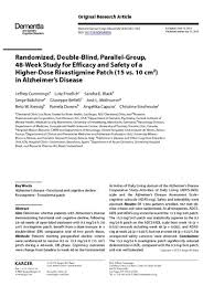 Blind Vs Double Blind Randomized Double Blind Parallel Group 48 Week Study For