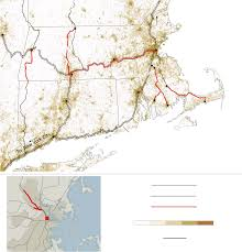 Map Of Cape Cod Ma Proposed Rail Projects In Massachusetts Map Nytimes Com