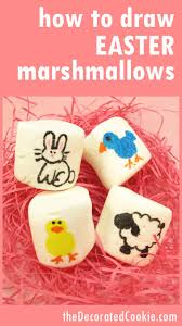 easter marshmallow art the decorated cookie
