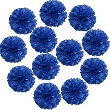 royal blue tissue paper blue paper flowers