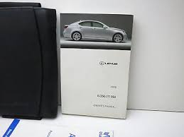 2008 lexus is 250 owners manual 08 2008 lexus is350 is250 vehicle owners manual book handbook