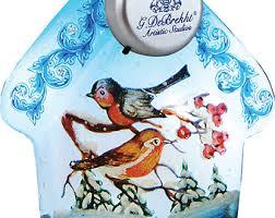 glass robin ornament etsy