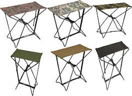 camouflage lightweight portable chair folding camp stool ebay