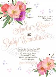 bridesmaids invitation bohemian watercolor flowers custom rehearsal dinner bridal