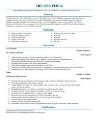 resume for nanny 22 all cvs and cover letters are downloadable as