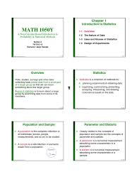 statistics lecture 1 notes level of measurement statistics