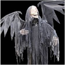 halloween grim reaper prop halloween animated winged reaper mad about horror