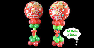 christmas balloon centerpiece decoration how to video tutorial