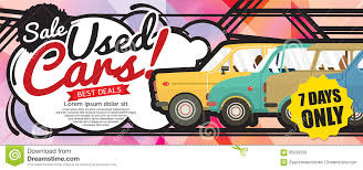 pixel art car shock price used cars sale 1500x600 pixel banner stock vector
