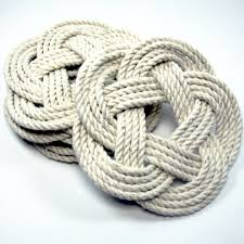 Novelty Door Stops by Nautical Coasters Handmade Sailor Knot Nautical Colors Set Of 4