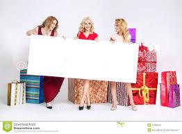 beautiful women holding white board stock image image 47980619