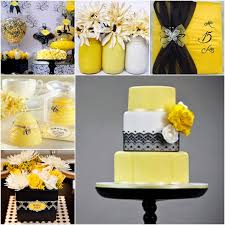 the queen bee yellow and black sweet fifteen theme quince candles