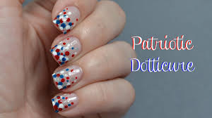 patriotic dotticure fourth of july nail art tutorial youtube