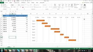 gantt chart excel tutorial how to make a basic gantt chart in