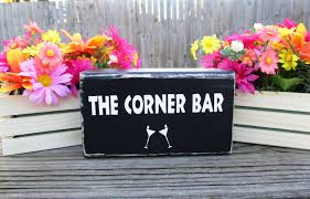 martini bar decor double sided quote block personalized wood quote block rustic