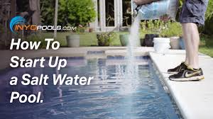 how to start up a salt water pool youtube