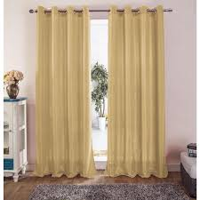 Yellow Grommet Curtain Panels by Thelma Jacquard Grommet Curtain Panel 54 X 90 Ebay