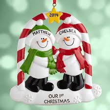 personalized couples snowman ornament walmart